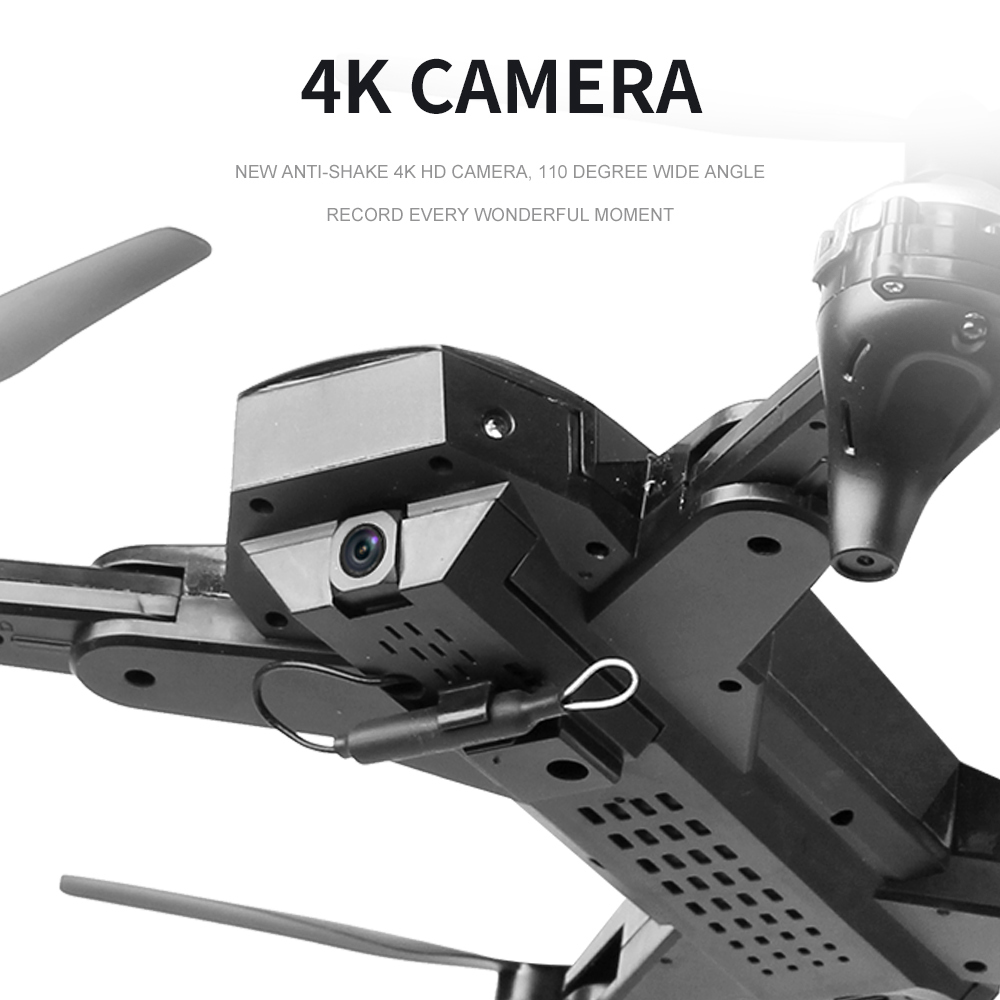 Drone Foldable Quadcopter GPS WIFI FPV 1080P Wide-Angle HD Camera Christmas Red