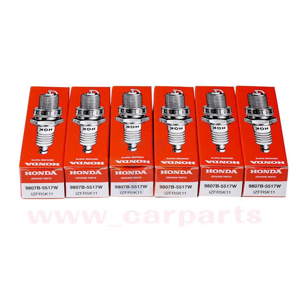 6pcs Genuine NGK For Honda Iridium Spark Plugs 9807B-5517W