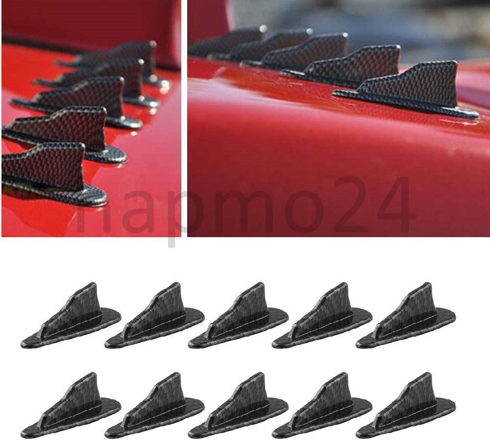 MKING Air Vortex Generator Diffuser Shark Fin 10pcs Set Kit for Spoiler Roof Wing