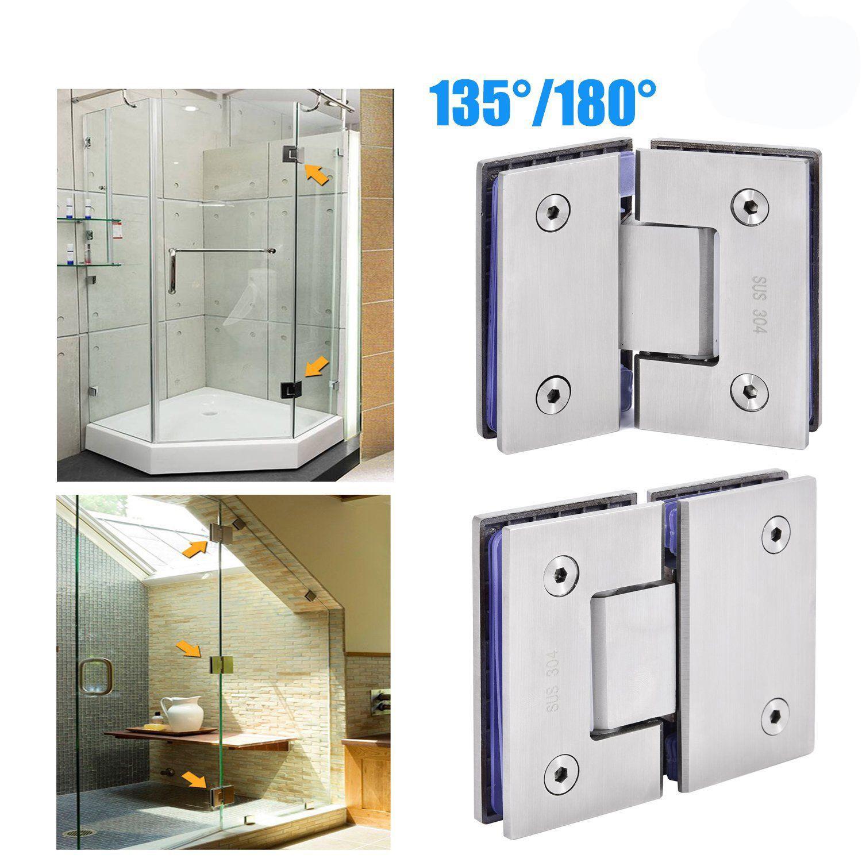 135180 Frameless Glass To Glass Shower Door Hinge Bracket Clamp
