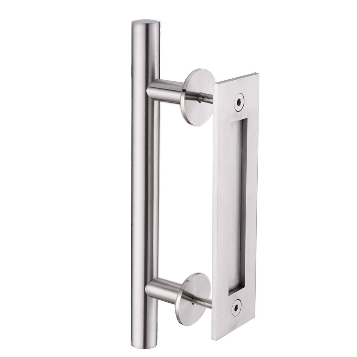Decorating barn door handles pictures : Stainless Steel Sliding Barn Door Pull Handle Wood door bar handle ...