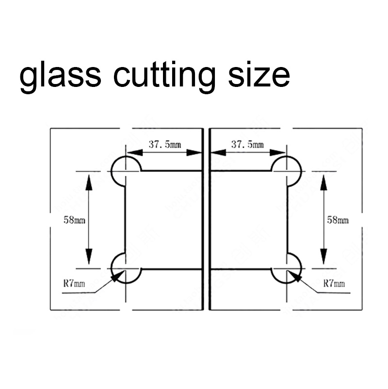 a pair stainless steel 180 frameless glass to glass shower door hinge bracket