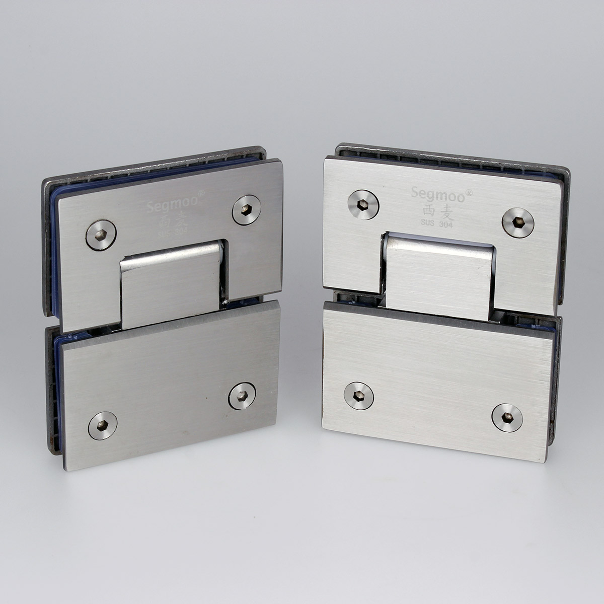 A Pair Stainless Steel 180 Frameless Glass To Shower Door Hinge Bracket