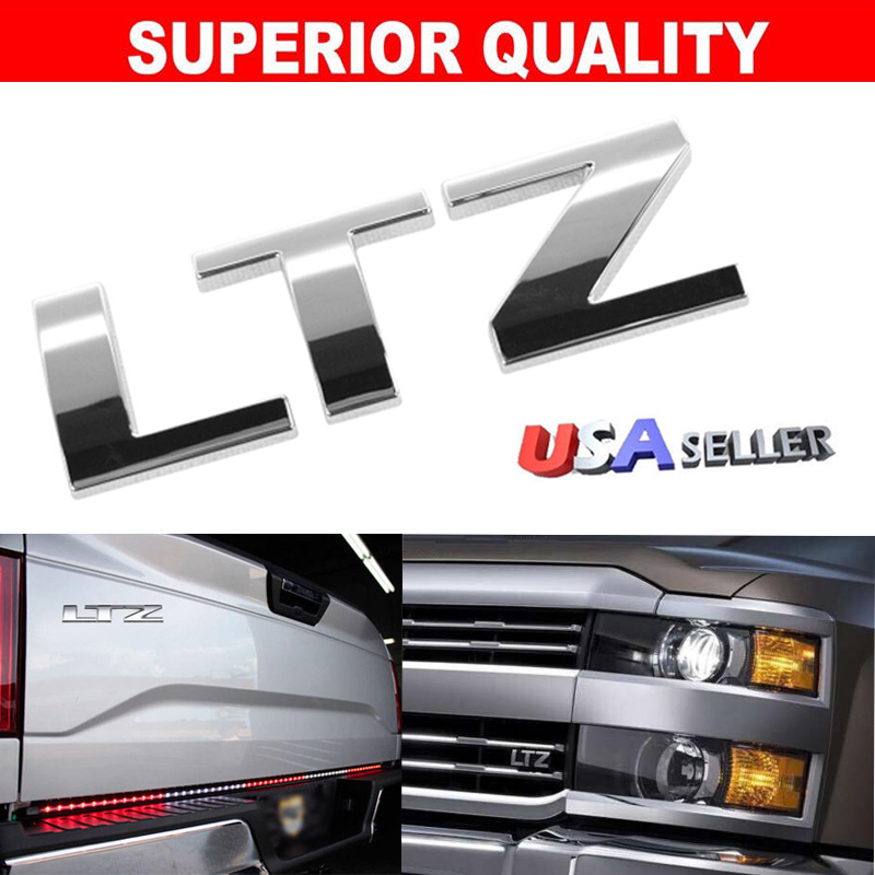 Details About New For Chevrolet Chrome Ltz Letters Emblem Badge Free Shipping Us Seller