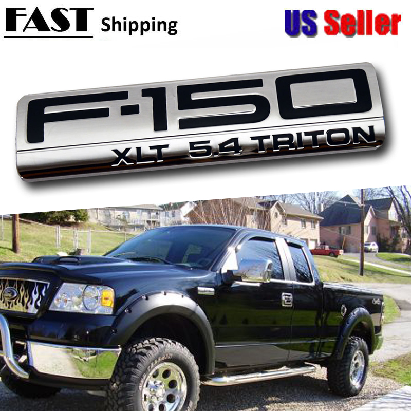 2005 Ford F150 Lariat >> Details About 2004 2005 2006 2007 2008 Ford F 150 Lariat 5 4 Triton Fender Emblem Chrome