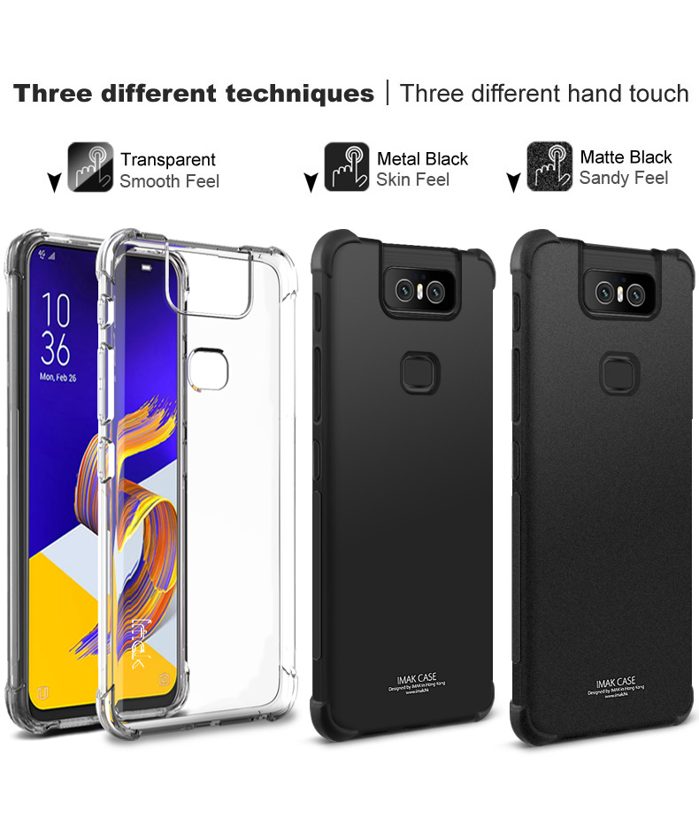 the latest 6df61 44e0e Details about Case For Asus Zenfone 6 ZS630KL IMAK Airbag Corner Soft TPU  Cover + Screen Film