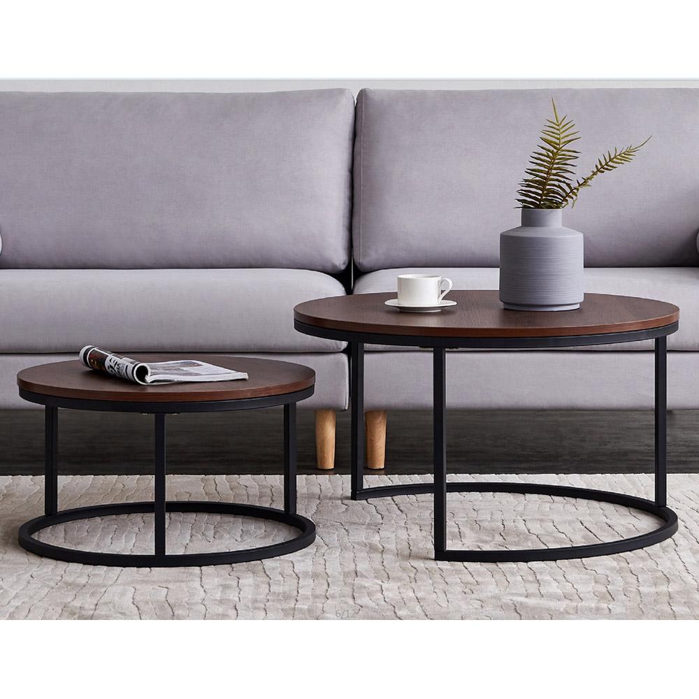 Modern Round Coffee Table Set Of 2 Sofa Side End Table Metal Leg Living Room New Ebay