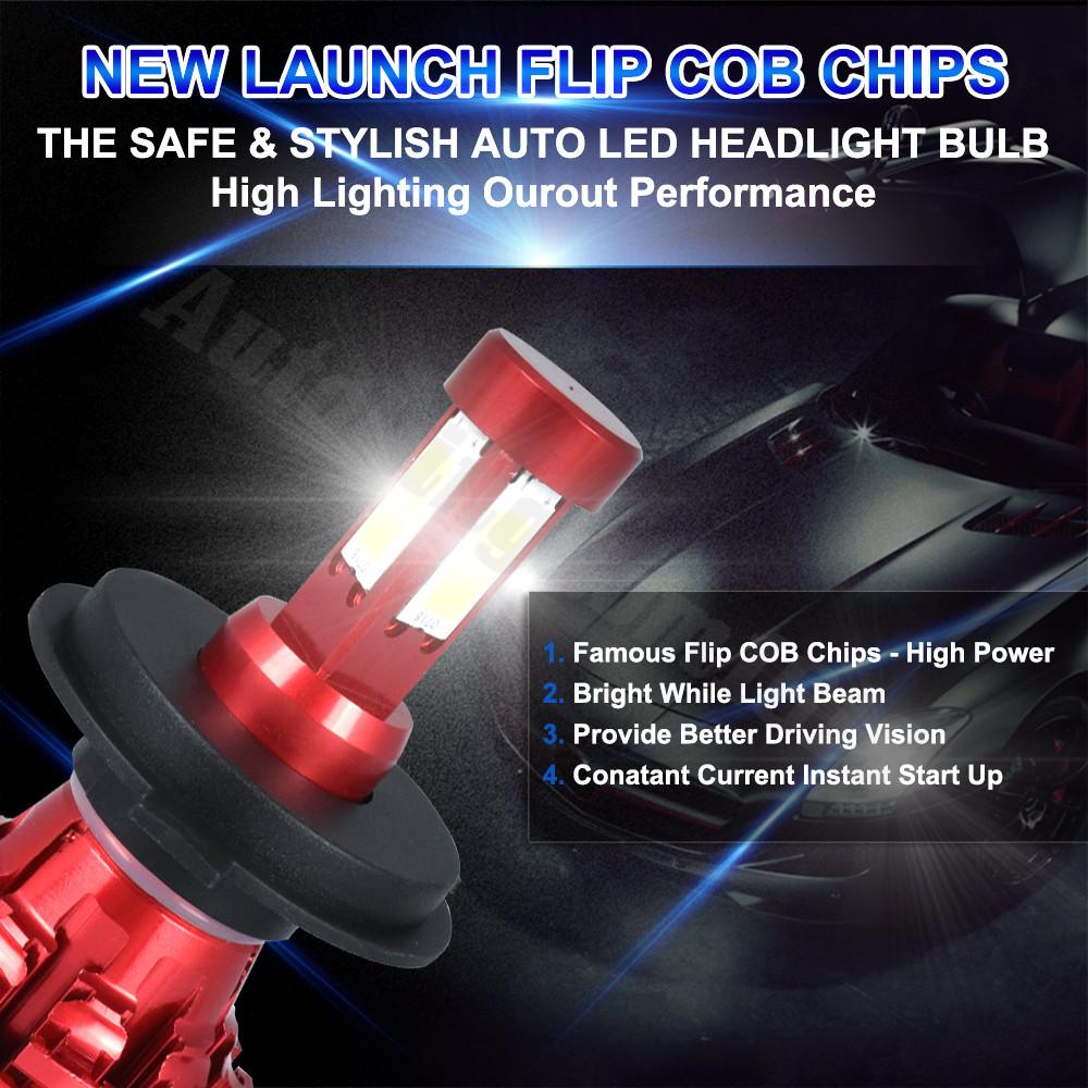 For Chevrolet Silverado 1500 1999-2015 High Beam 9005 HB3 Flip Chip LED Bulb
