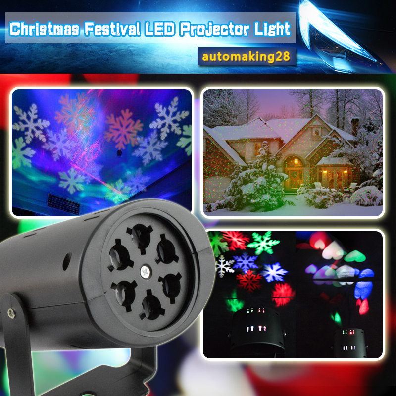 RGB-Snowflake-LED-Laser-Projector-Bar-Stage-Lighting-Light-Xmas-Halloween-Party