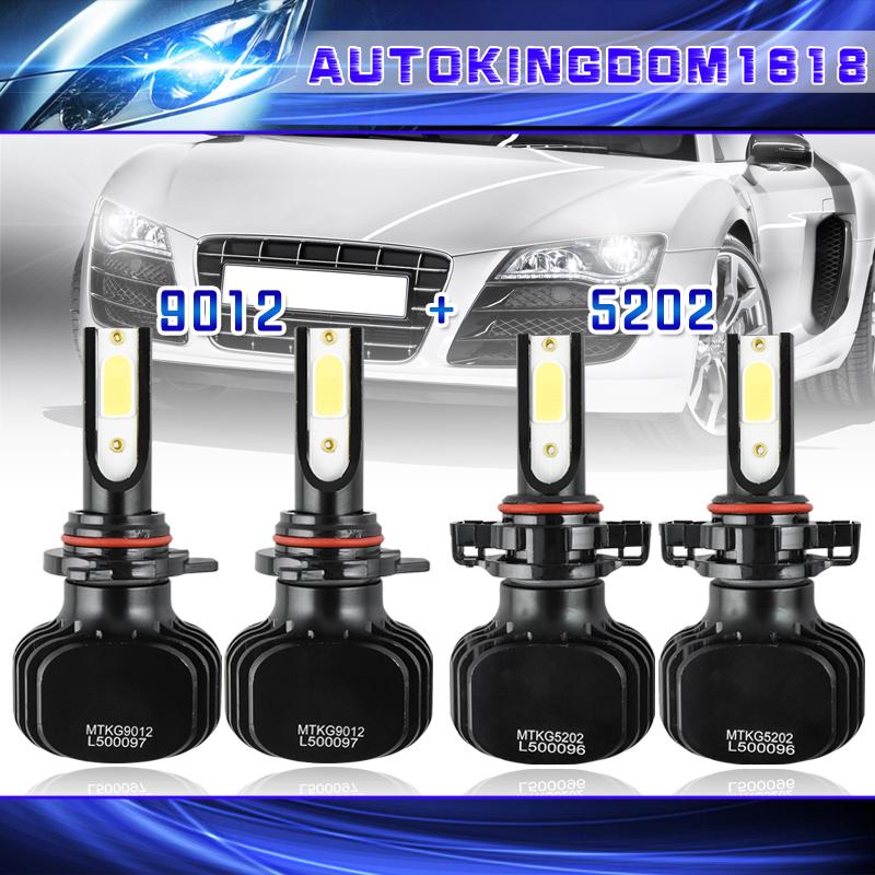 For GMC Sierra 2500 HD 2015 2016 9012 LED Headlight Kit /&5202 Fog Light Bulbs US