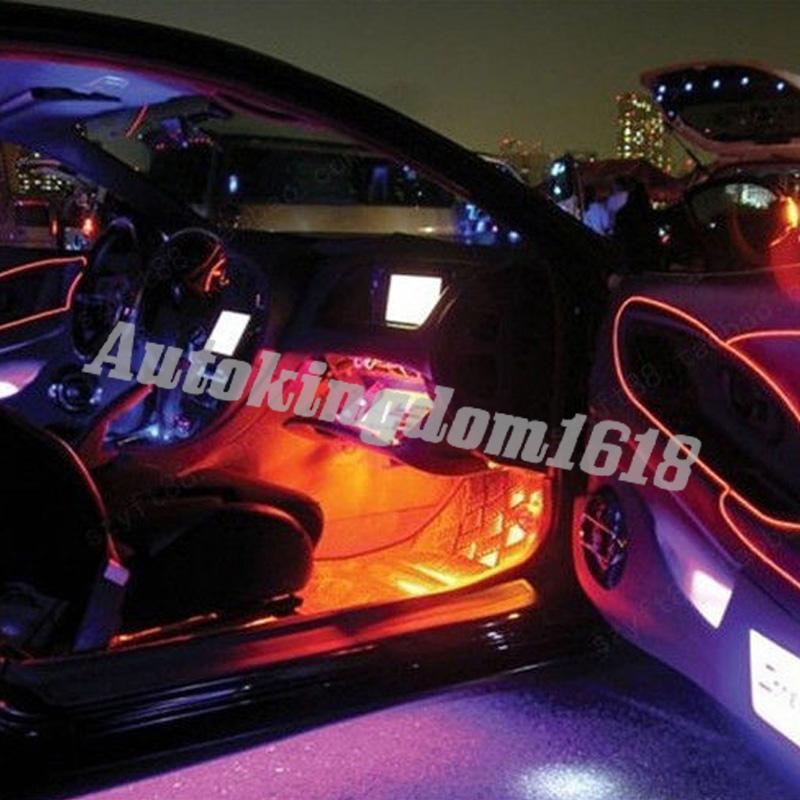1M Orange LED EL Wire Car Ambient Light Inside Vehicle Cold Light ...