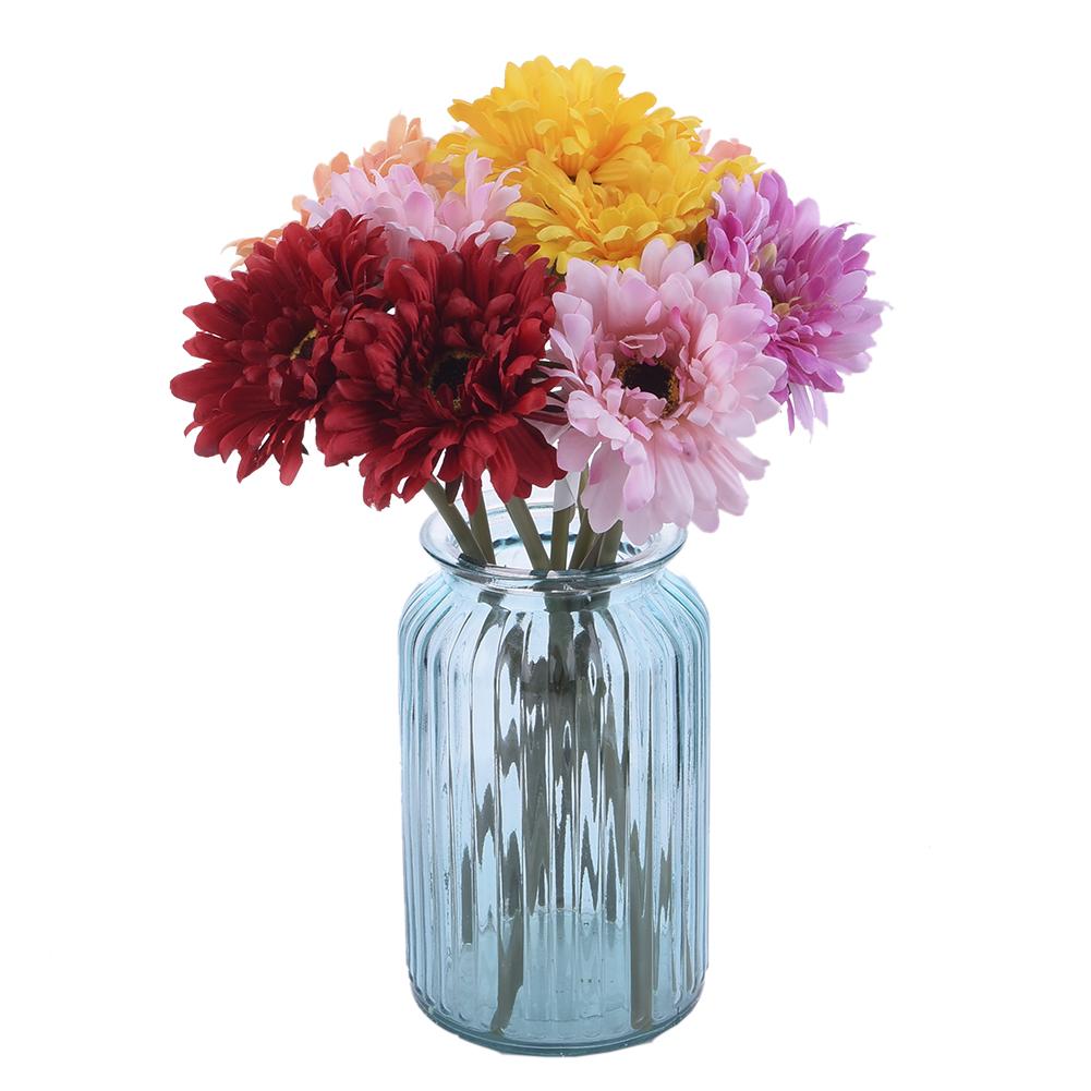 5pcs Artificial Fake Silk Gerbera Daisy Flower Bouquet Wedding Party