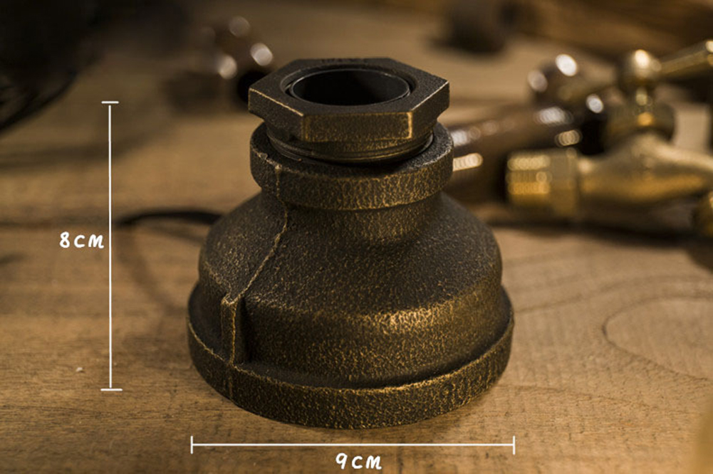 steampunk style tischlampe schreibtisc design retro vintage tischleuchte lampe ebay. Black Bedroom Furniture Sets. Home Design Ideas
