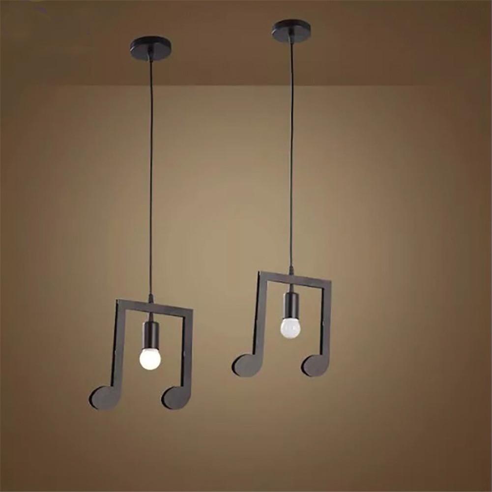Pendelleuchte Musik Note Kreative Hängeleuchte für Wohnzimmer ...
