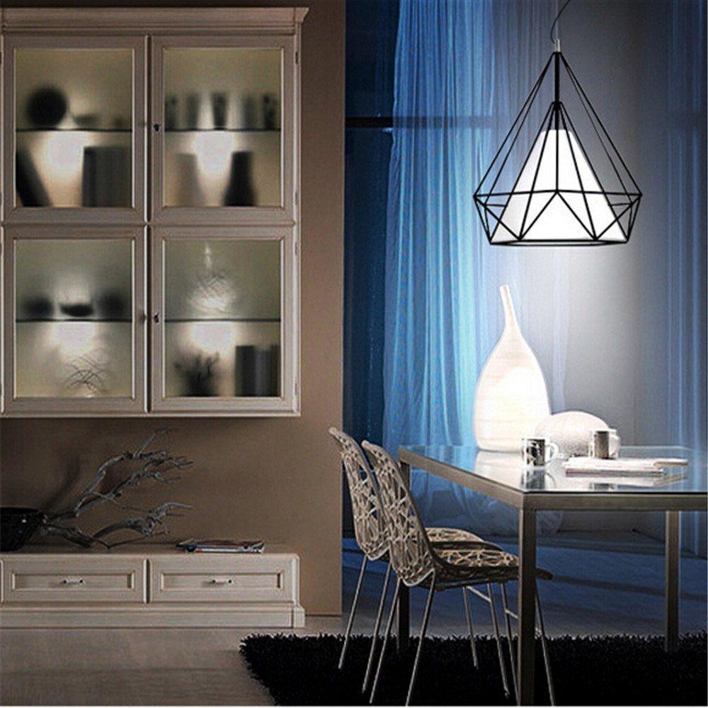 Modern diamant metall h ngelampe h ngeleuchte deckenlampe for Deckenlampe esstisch