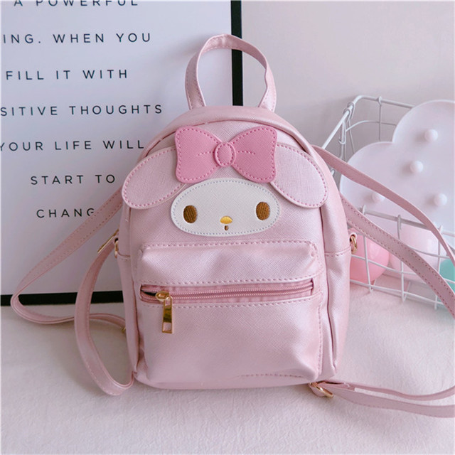 Super Cute My Melody PU Leather Handbag Purse Phone Bag Backpack Shoulder Bag