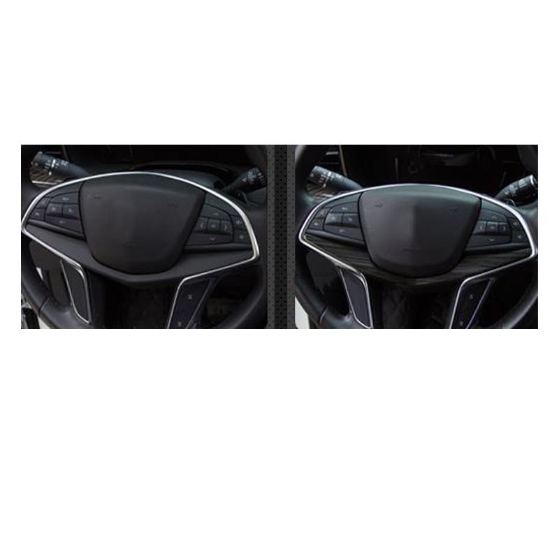 For Cadillac CT6 2016-2019 Black Titanium Steering Wheel