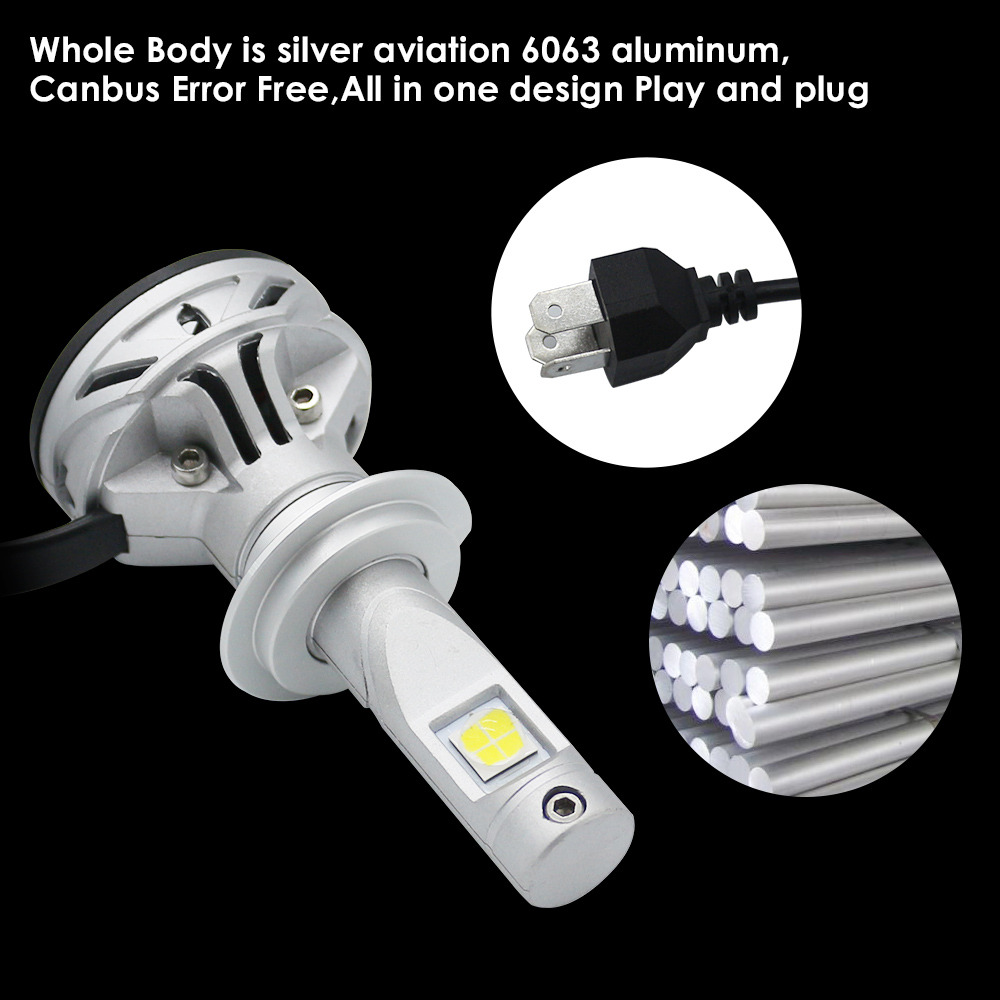 cree h7 h11 h4 h1 led headlight kit scheinwerfer birnen leuchte lamp xenon 6000k ebay. Black Bedroom Furniture Sets. Home Design Ideas