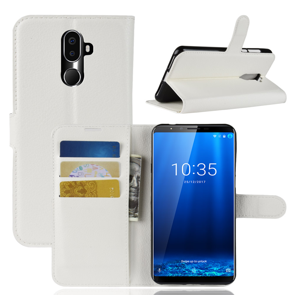 Litchi Leather Slot Wallet Stand Flip Cover Skin Case For Cubot X18 Smartphone Android Lg L70 D325 Free Windows Plus