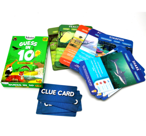 Animal Planet Educational Game Guess in 10 Card Game  for Kids Age 6+