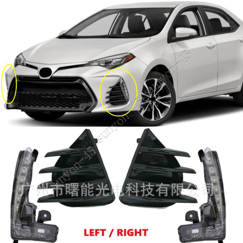 For 2017 2018 2019 Toyota Corolla Fog Light Daytime Running Lamp LED Left