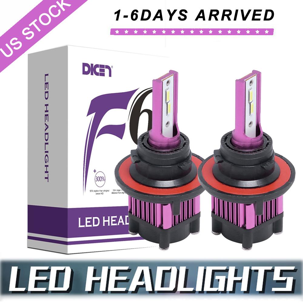 H13 9008 3000W 450000LM LED Headlight Kit High//Low Dual Beam Bulbs 6000K Bulbs