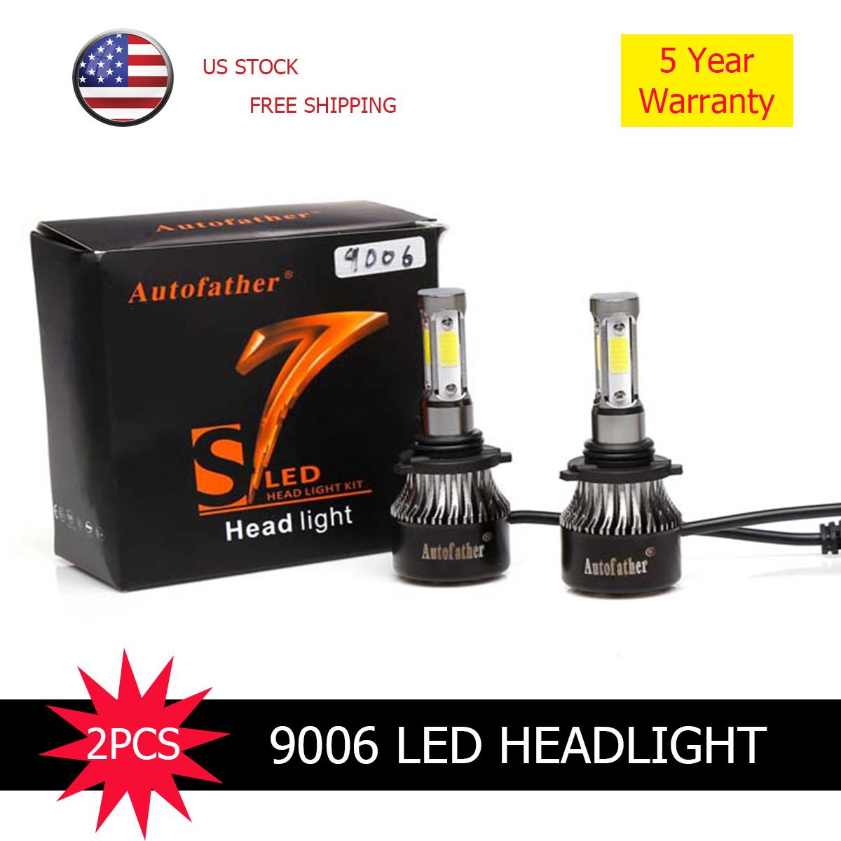 4 Sides CREE Chips 9006 HB4 Led Headlight Kit 240W 38000LM Bulbs 65000K Headlamp
