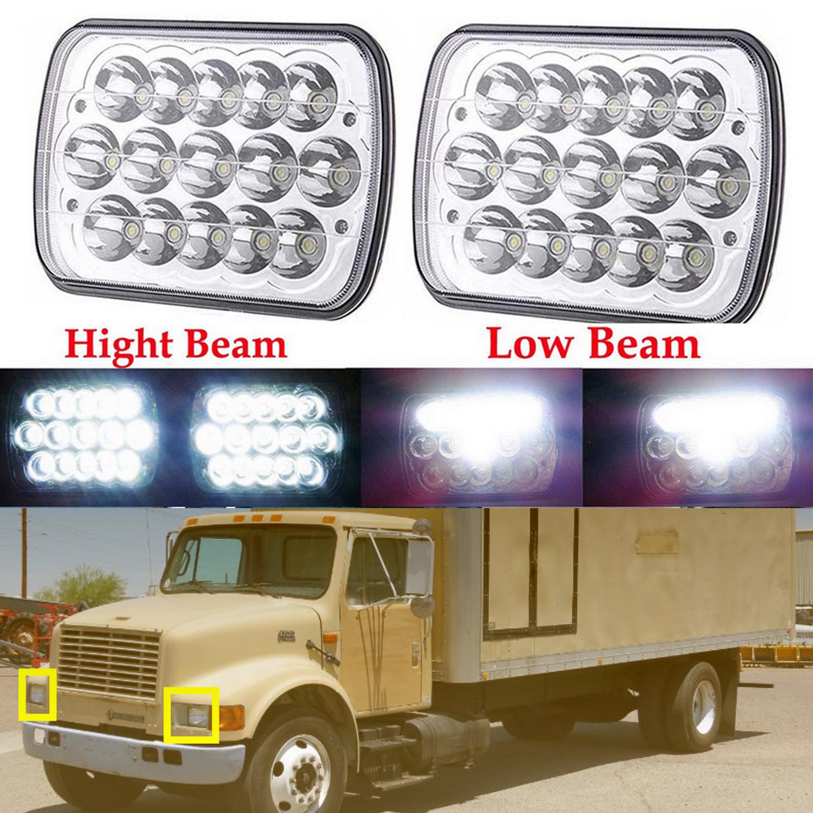 2x LED Headlights High//Low Beam Projector Bulbs For International 4700 4900 8100