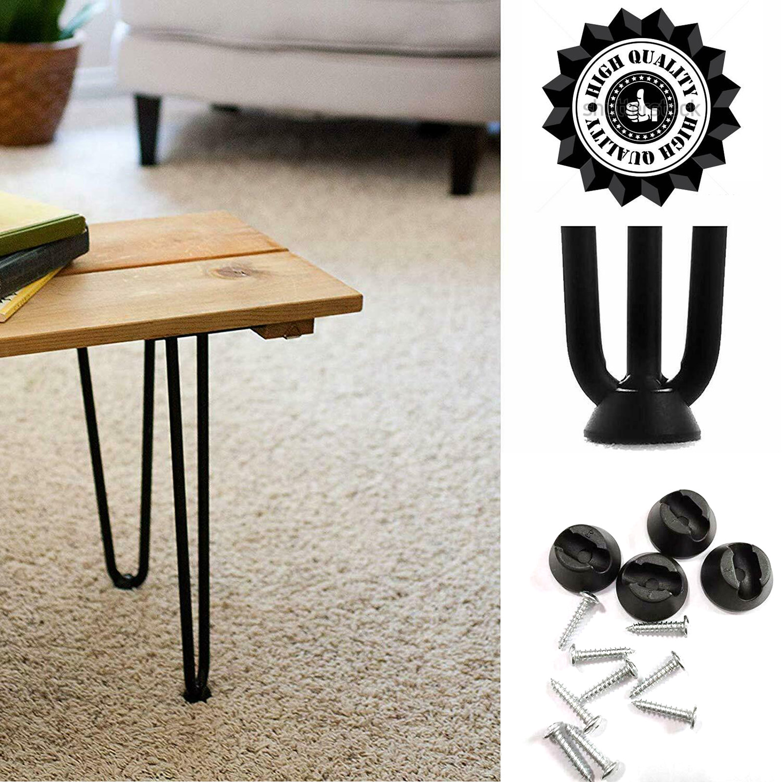 Tremendous Details About Table Hairpin Legs 10Mm Metal Furniture Coffee 4 Diy Table Legs Stainless Steel Interior Design Ideas Tzicisoteloinfo