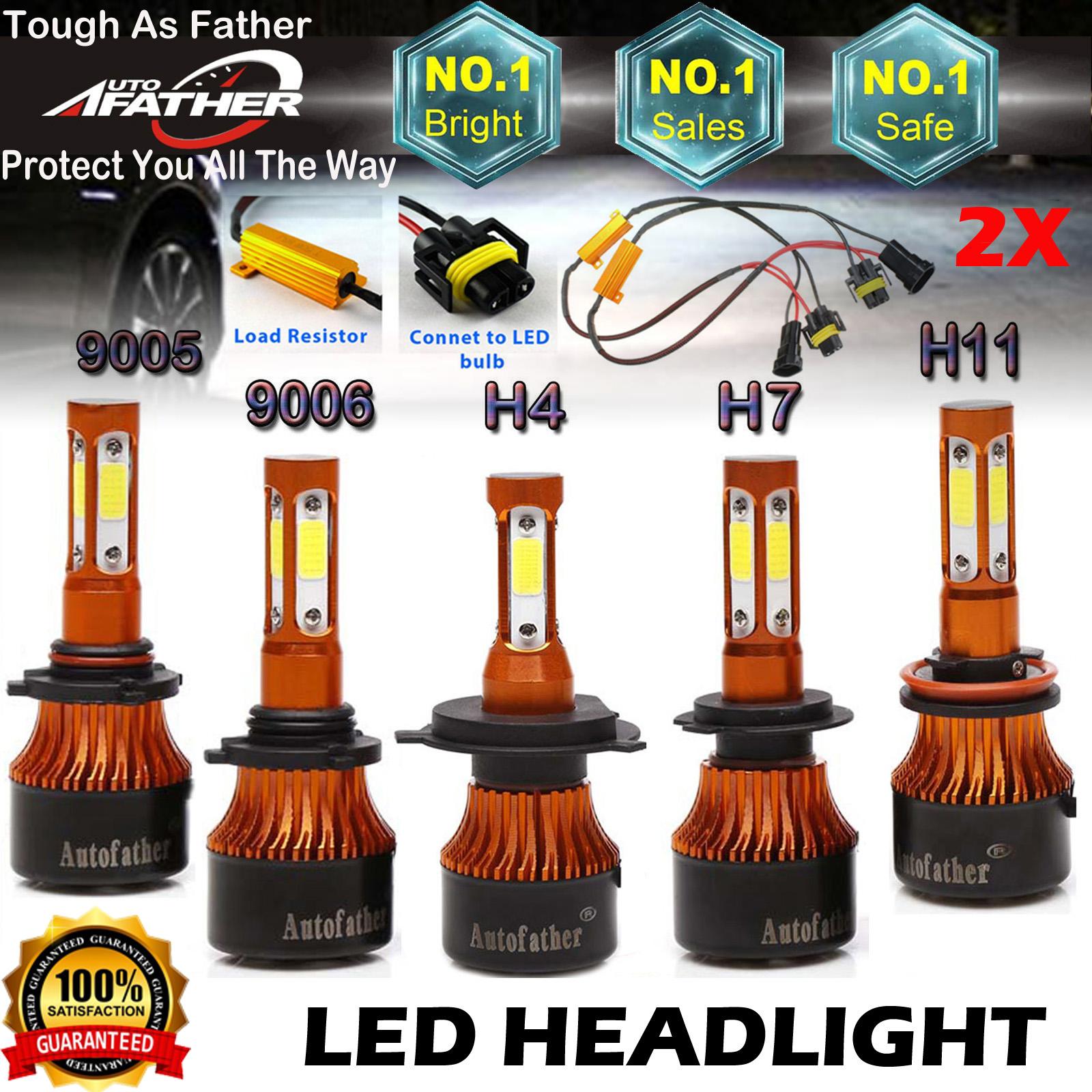 PAIR PHILIPS LED Headlight H11 H8 H9 320W 32000LM Kit Hi//Lo Beam Bulb HID 6500K
