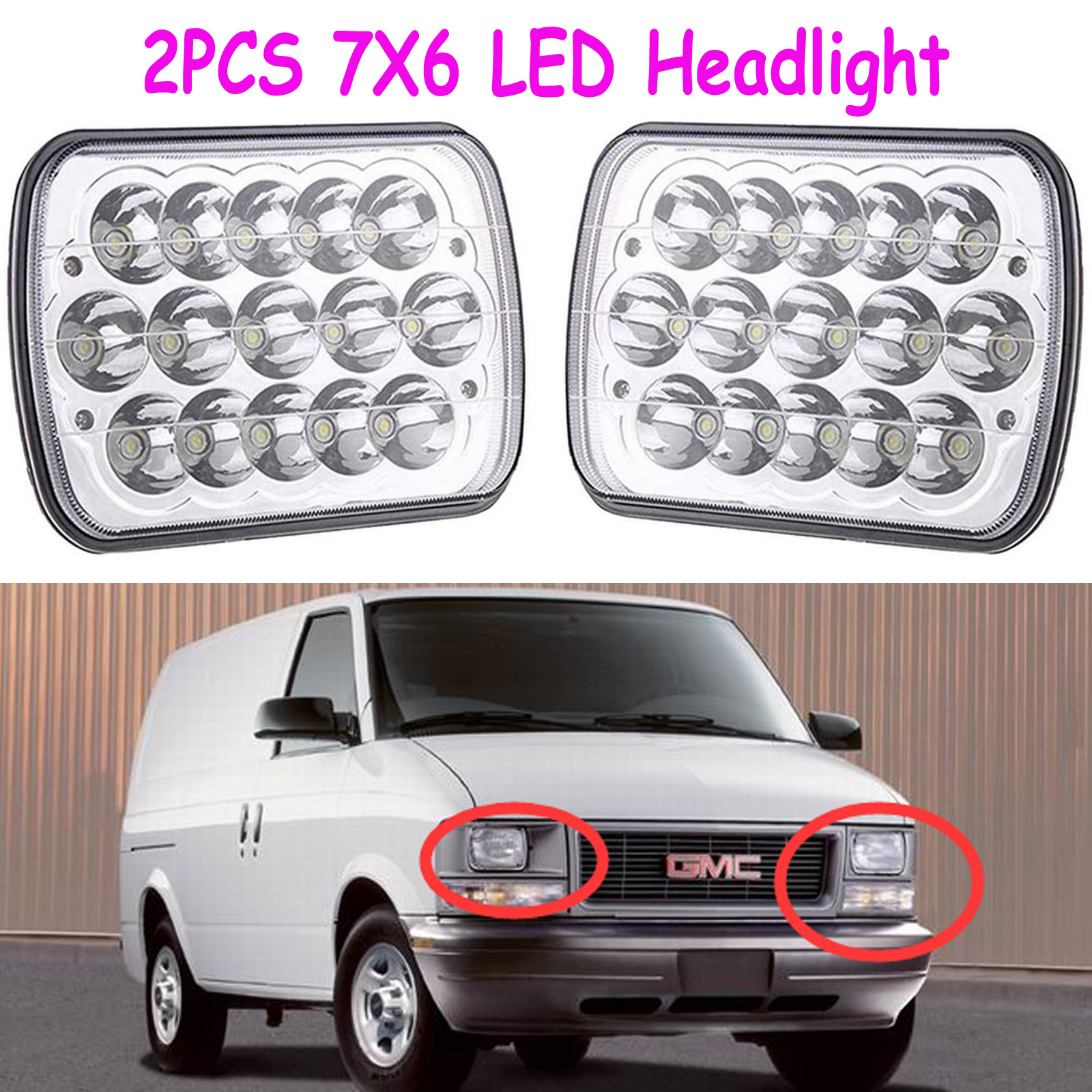 2018 NEW Sealed Beam LED Crystal Clear Headlight For GMC