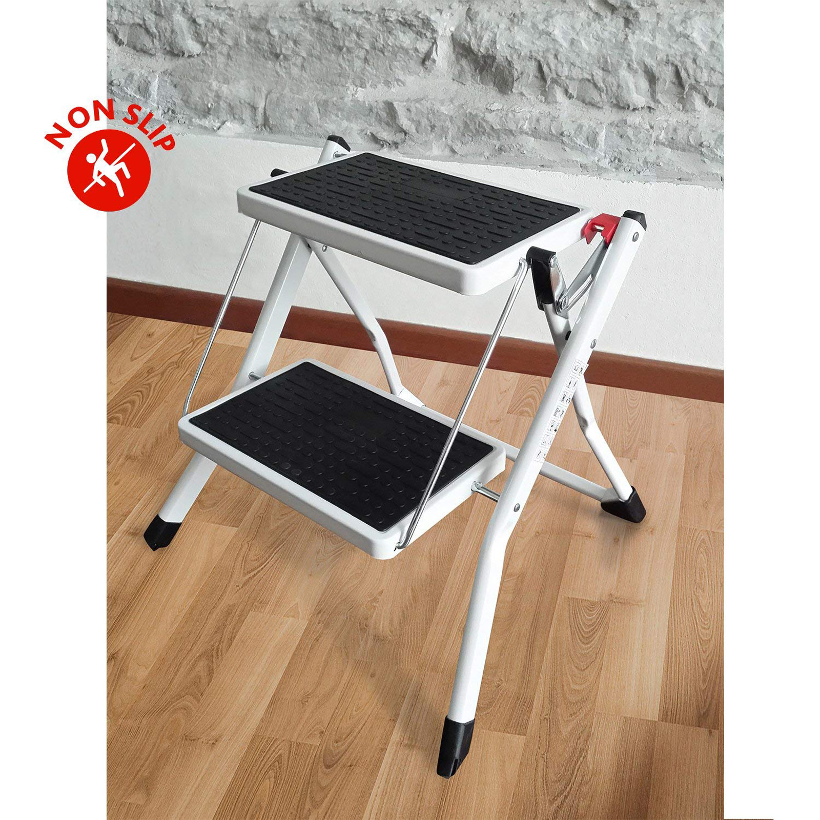 Heavy Duty Small 2 Step Steal Ladder Portable Folding