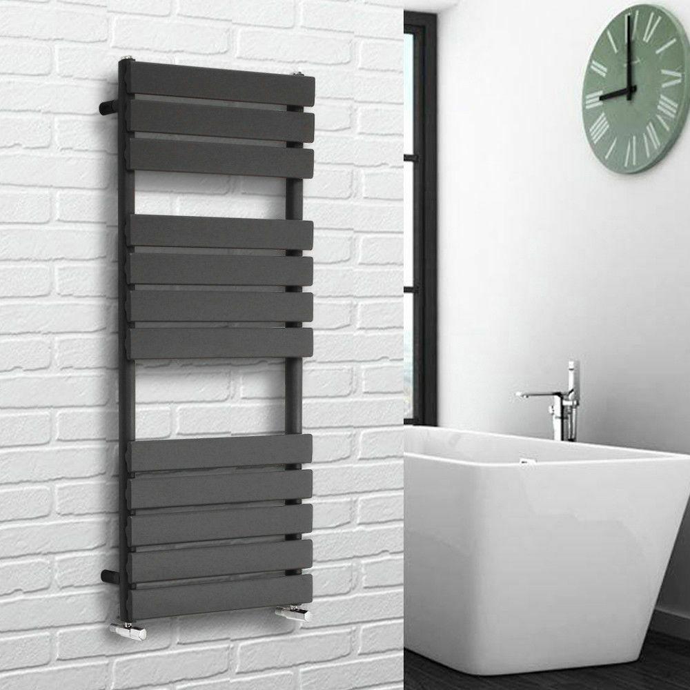 Designer Bathroom Flat Panel Sand Grey Heated Warmer Towel ...