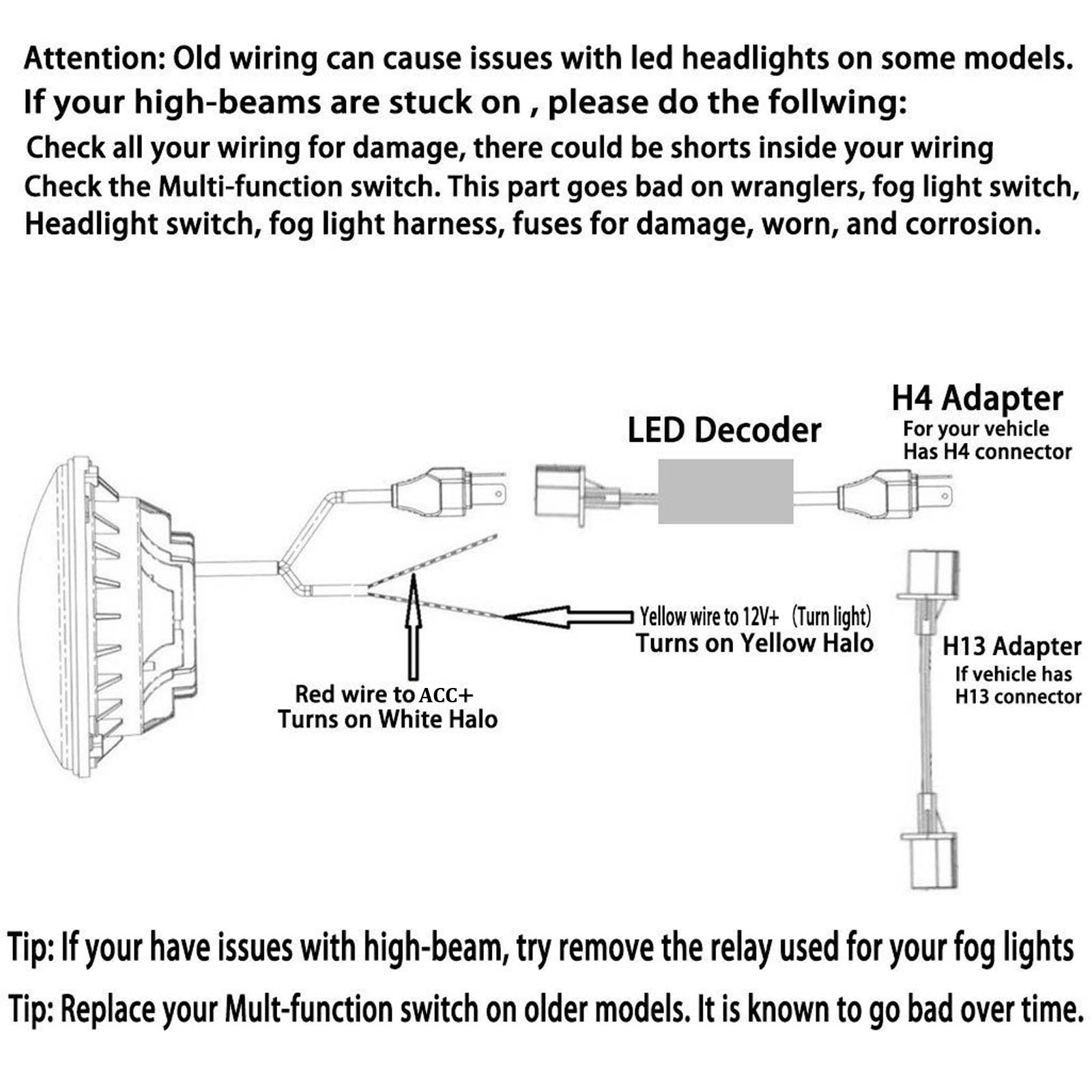 7 Led Halo Jeep Headlight Wiring Diagram Modern Design Of H4 Hid Library Rh 85 Codingcommunity De 2003 F250