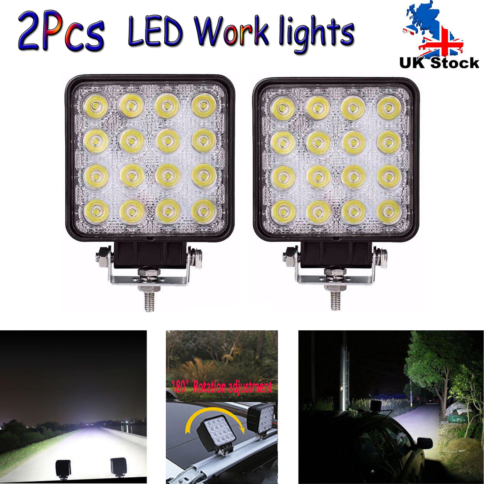 Led Work Lights Bar Flood Spot Offroad Fog Driving Lamp Wiring For Jeep