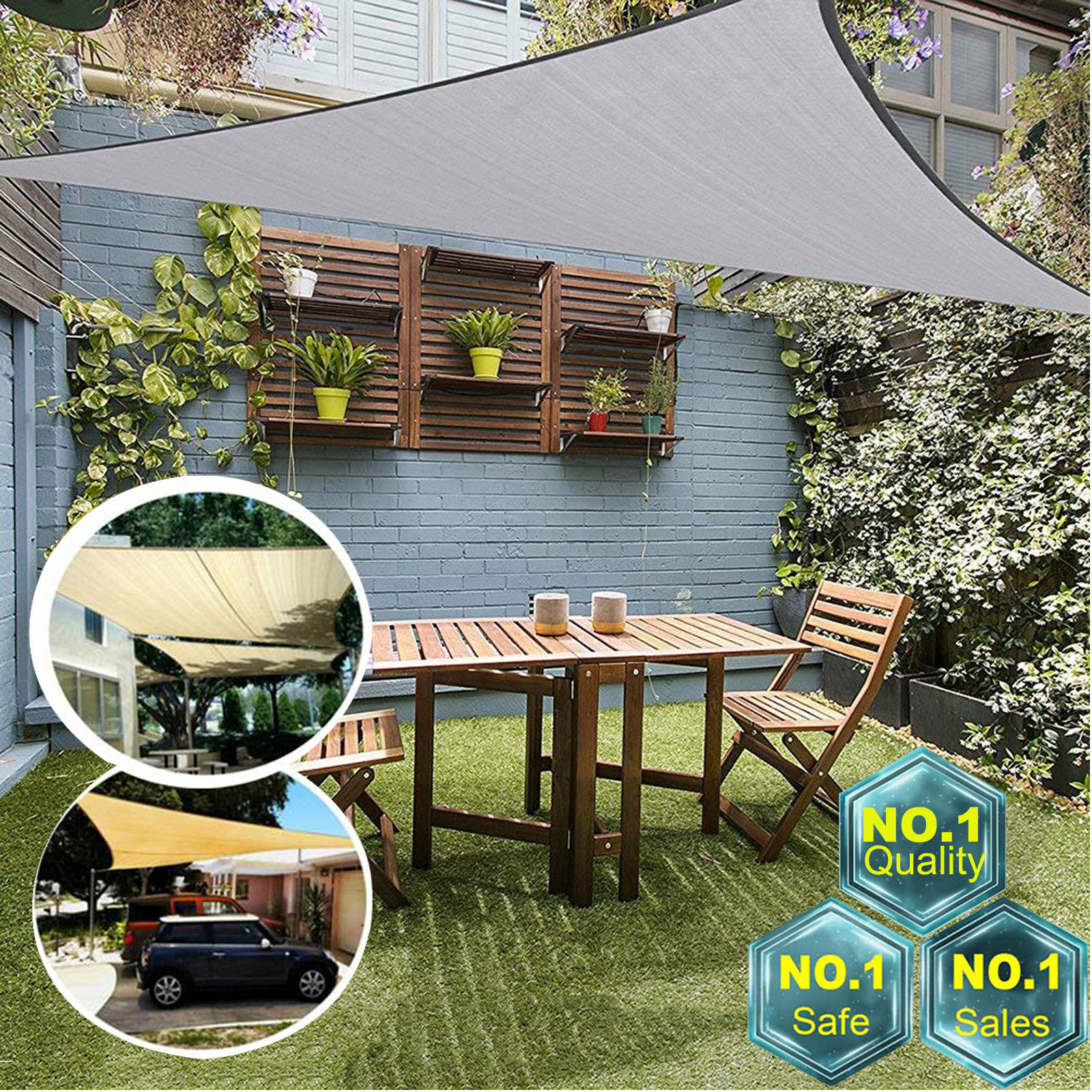 Sun Shade Sail Outdoor Garden 300D Canopy Patio Cover Windshield Protect