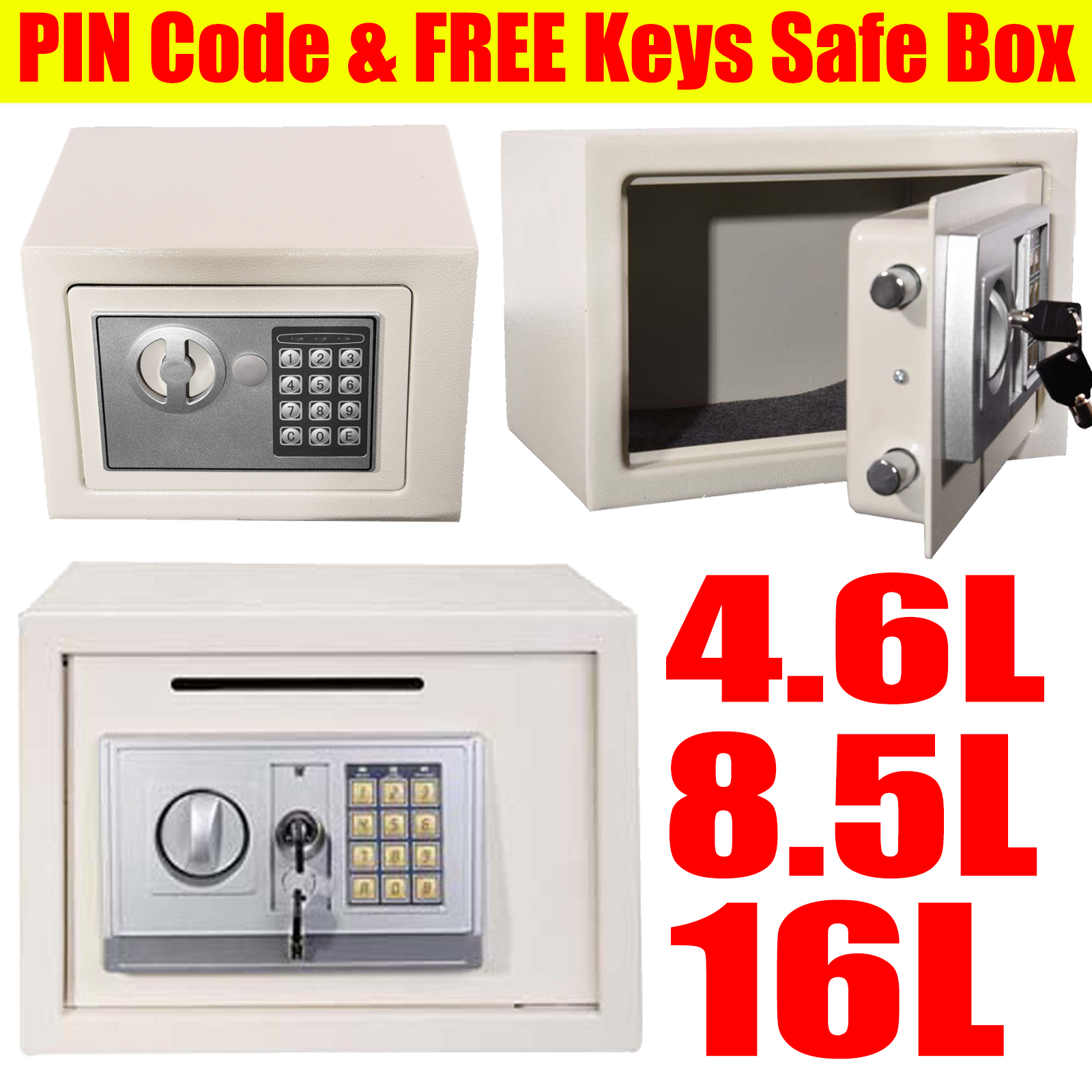 16L 8.5L 4.6 Electronic Password Security Safe Money Cash Deposit Box Safety Hot