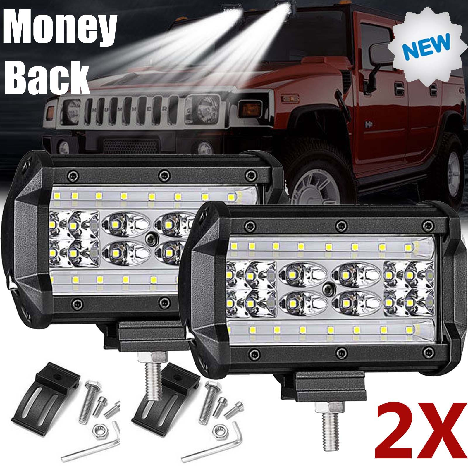 """12/"""" 72W LED Work Light Bar Offroad Driving Lamp SUV Car Boat 4WD"""