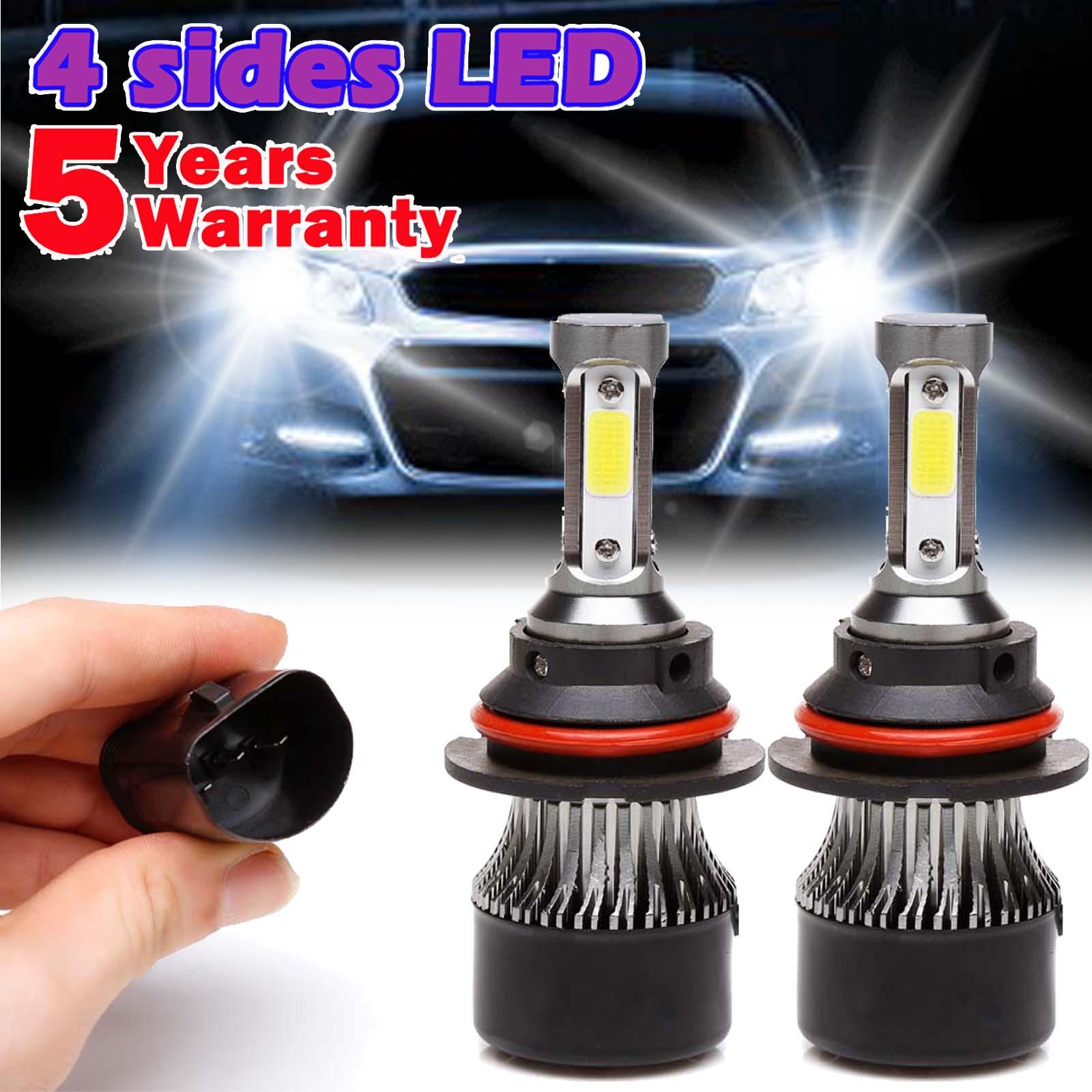 IRONWALLS H7 LED Headlight Kit 6-Side 360° HI//LO Beam Bulbs 300000LM 6000K White