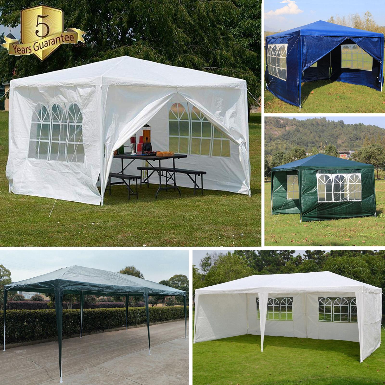 3x3m Gazebo Waterproof Garden Outdoor Marquee Wedding Party Tent Heavy Duty