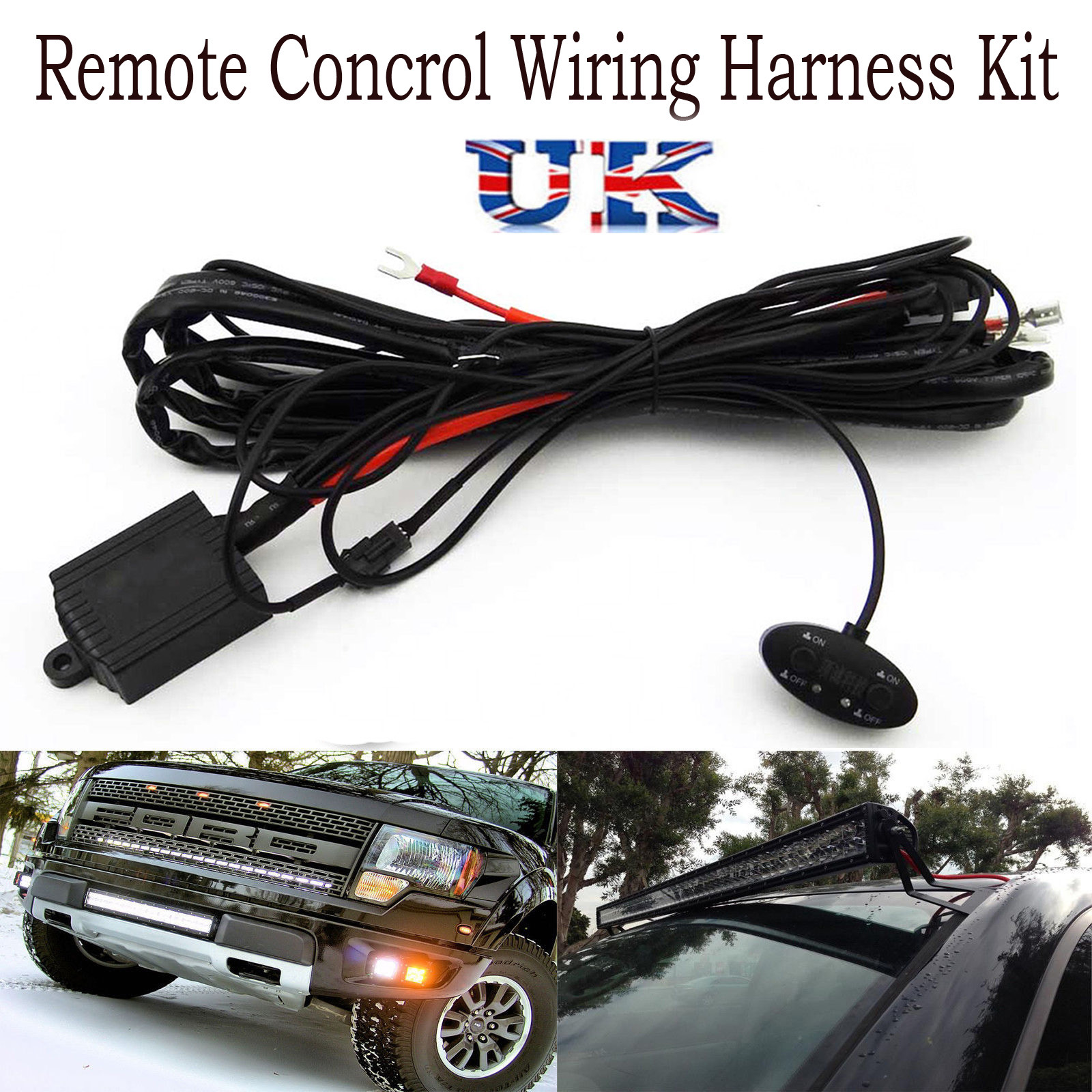 Wiring Harness Kit For Led Light Bar Fog 40a Relay Fuse On Off Switch