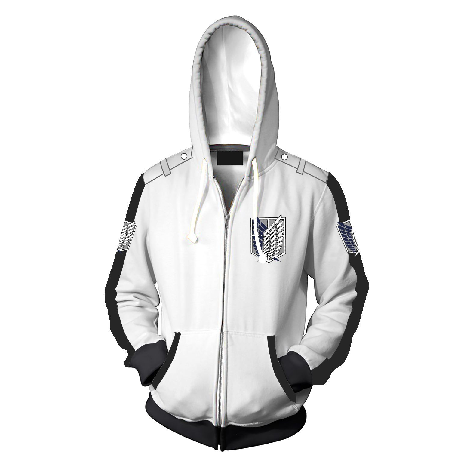 Anime Attack on Titan Hoodie Coat Sweatshirt Cosplay Costume Zipper Jacket Hot