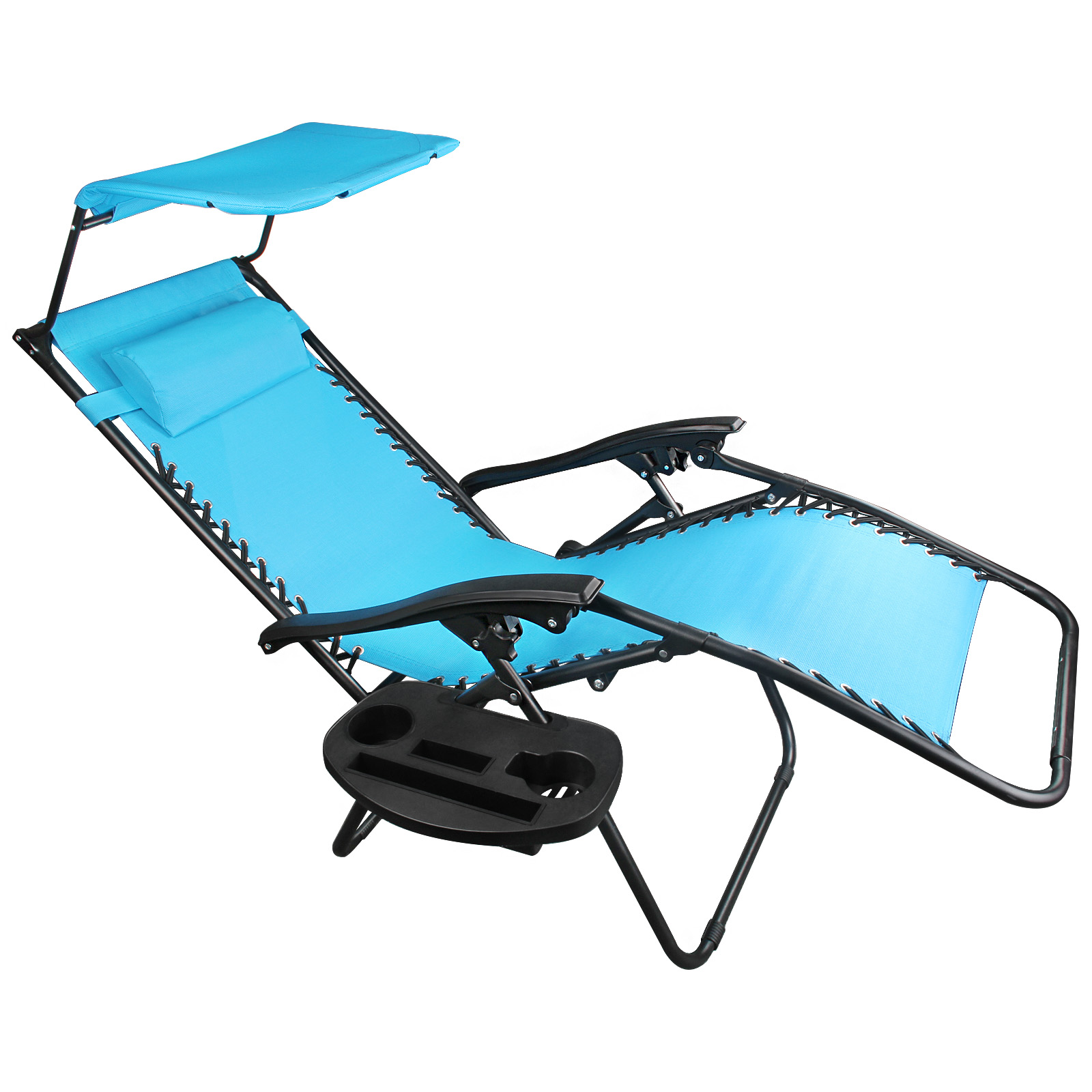 Details About Zero Gravity Chairs Case Blue Lounge Patio Chair Outdoor Yard Beach Pool