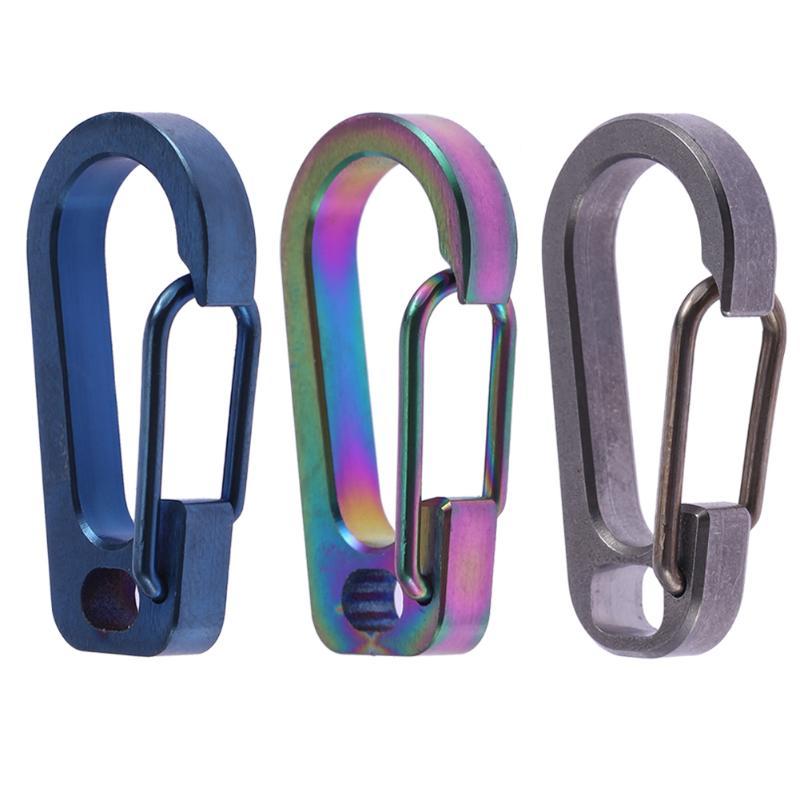 EDC Titanium Alloy Anti-lost Fast Hanging Keychain Hanging Buckle Keyring Holder