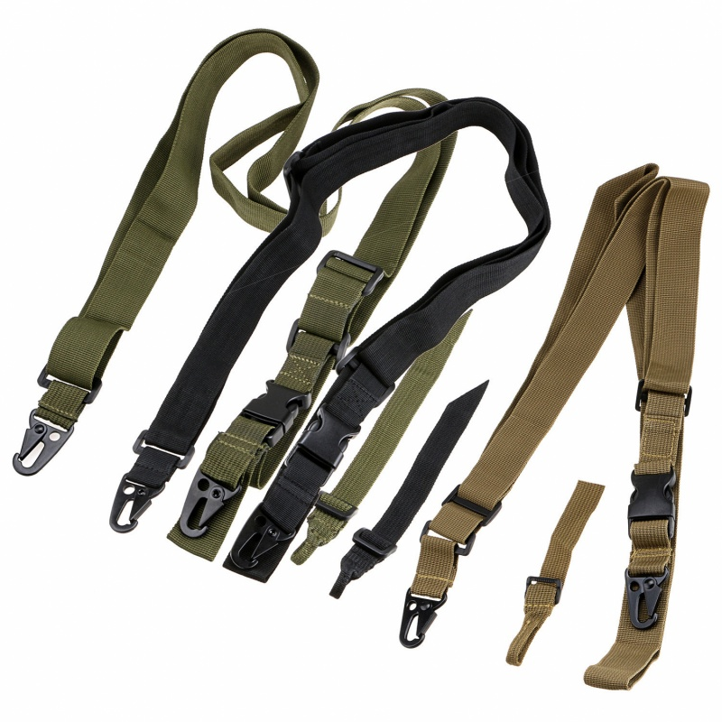 Adjustable Hunting 3 Point Sling Bungee Tactical Strap System For Rifle Gun NEW