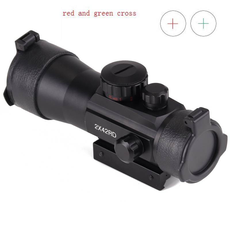 Holographic Red//Green Cross Dot Sight Laser Scope Outdoor Tactical Tools Beamy