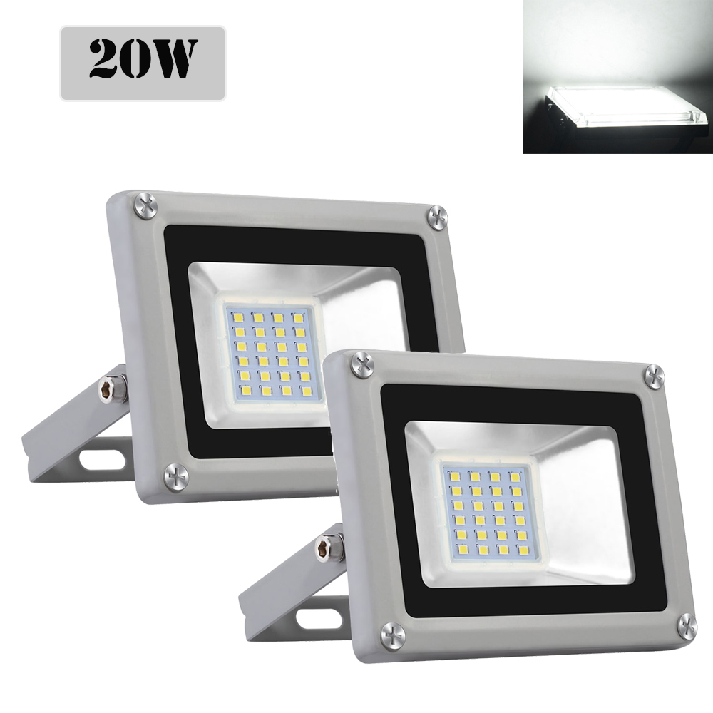 2X 150W LED Floodlight LEMBRD Garden Lighting Outdoor Security Lamp Warm White