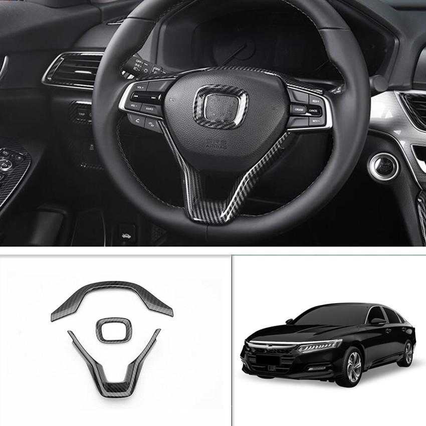 Carbon Fiber Style Steering Wheel Frame Cover Trim FOR HONDA ACCORD 2018-2020