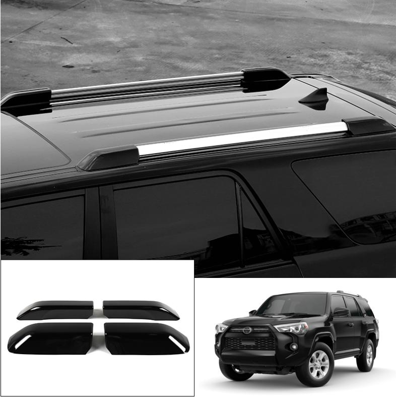 4pcs Roof Rack Bar Rail End Cover Cap Fit For Toyota 4Runner 2010-2018