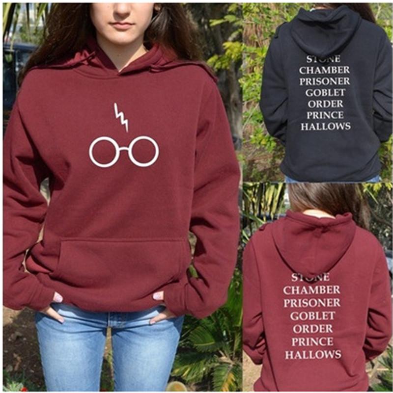 Harry Potter Glasses Flash Print Hoodie Women/'s Casual Sweatshirt Pullover Hoody